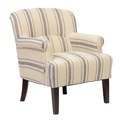 Harrison Blue Stripe Arm Chair