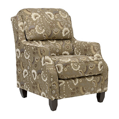 Katie Khaki Floral Accent Chair