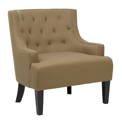 Sophie Brown Sugar Tufted Arm Chair
