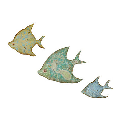 Metal Paisley Fish, Set of 3