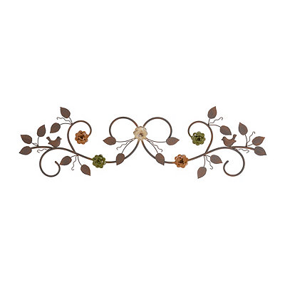 Rosie Distressed Floral Metal Plaque