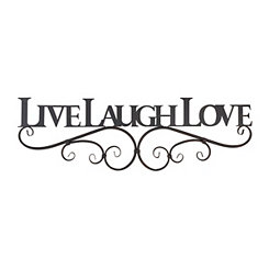 Live, Laugh, Love Metal Plaque