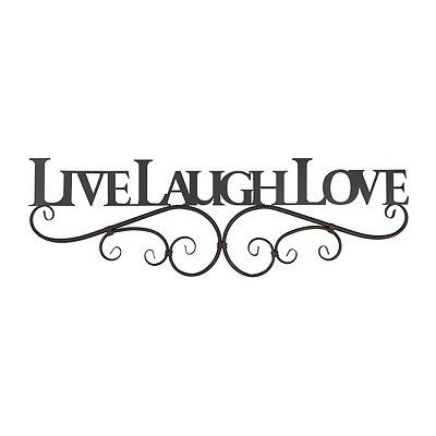 Live, Laugh, Love Metal Plaque