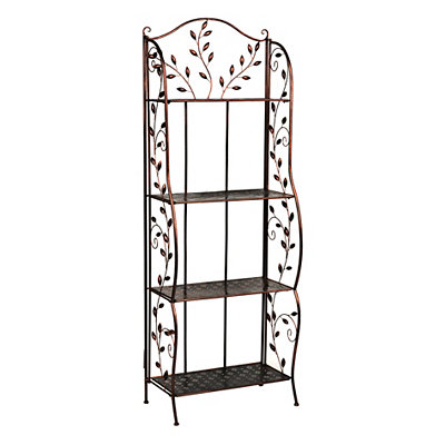 Black Copper Vine Bakers Rack