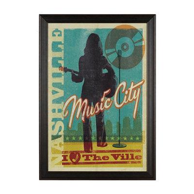 I Heart Nashville Framed Art Print