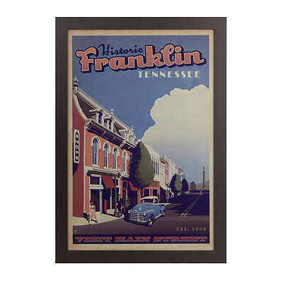 Historic Franklin Framed Art Print