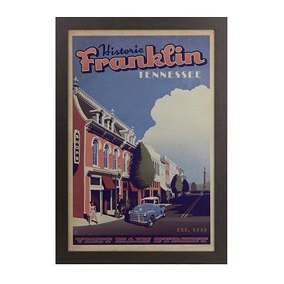 Historic Franklin Framed Art Print