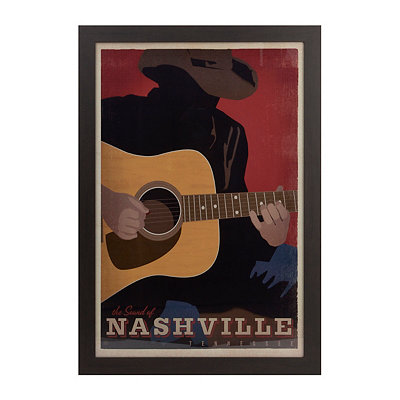 The Sound of Nashville Framed Art Print
