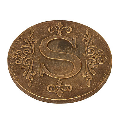 Gold Monogram S Stepping Stone