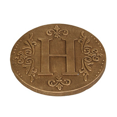 Gold Monogram H Stepping Stone
