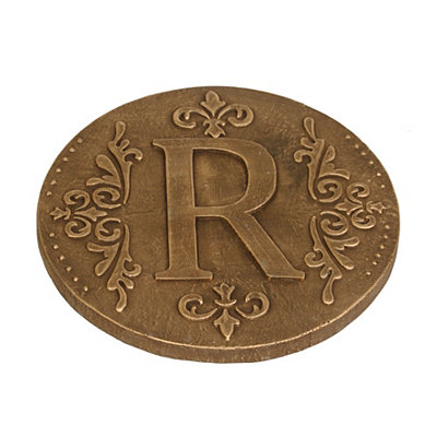 Gold Monogram R Stepping Stone