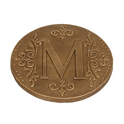 Gold Monogram M Stepping Stone