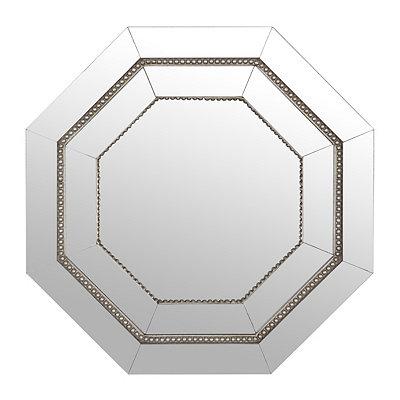 Octagonal Frameless Mirror, 22 in.
