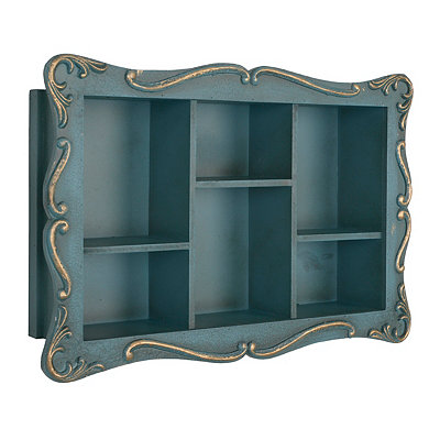Ornate Blue Shelf