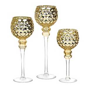 Gold Honeycomb Charismas, Set of 3