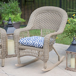 Savannah Driftwood Wicker Rocker