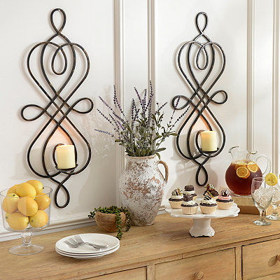 Bronze Hudson Scroll Sconce