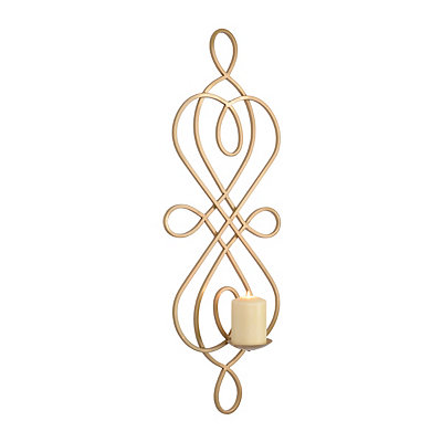 Gold Hudson Scroll Sconce