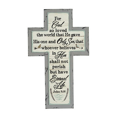Eternal Life Cross Plaque