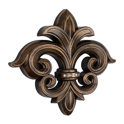 Antique Gold Bling Fleur-de-Lis