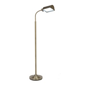 Antique Brass LED Floor Lamp