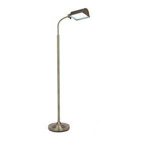Antique Brass LED Floor Lamp