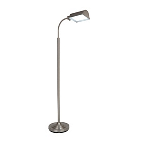 Brushed Steel LED Floor Lamp
