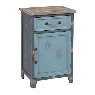 Distressed Two-Tone Blue Cabinet
