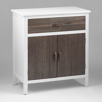 Rustic Country White Cabinet