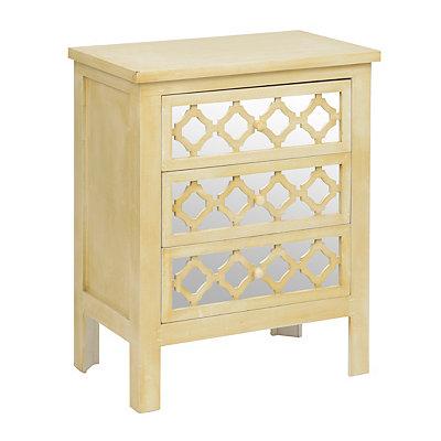 Distressed Cream Mirrored Cabinet
