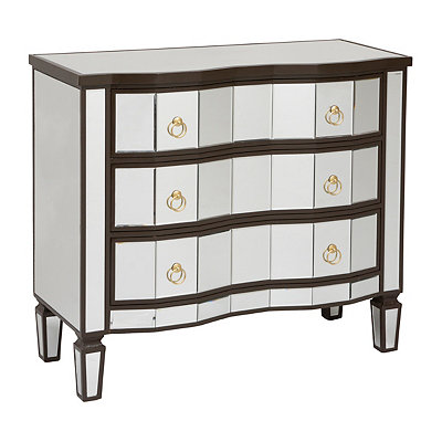 Rustic Mirrored 3-Drawer Chest