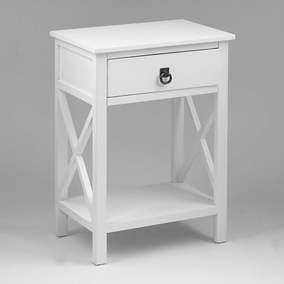 Liam White End Table