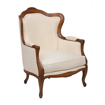 Ivory Linen Arm Chair