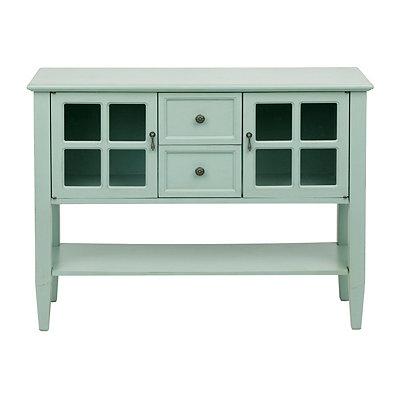 Light Blue Window Pane Cabinet