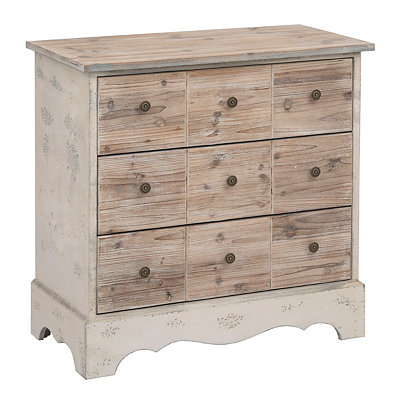 Rustic Natural 3-Drawer Chest