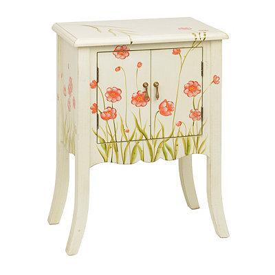 White Wildflower Cabinet