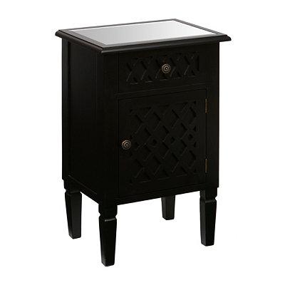 Black Lattice Cabinet