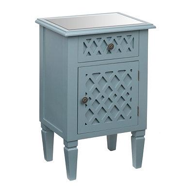Light Blue Lattice Cabinet