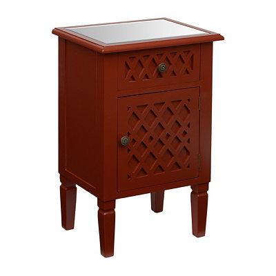 Red Lattice Cabinet