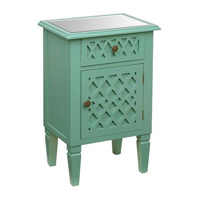 Turquoise Lattice Cabinet