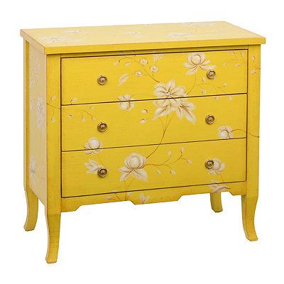 Yellow Wildflower 3-Drawer Chest