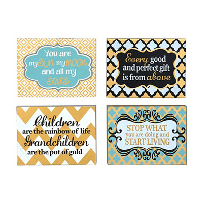 Black & Gold Sentiment Wall Plaques