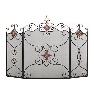 Royal Scroll Fireplace Screen