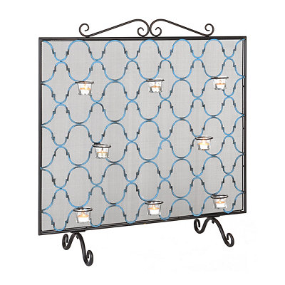 Fireplace Screen and Votive Holder