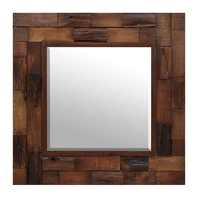 Lloyd Square Wood Slat Mirror, 30x30
