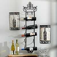 Metal Fleur-de-Lis Wine Rack