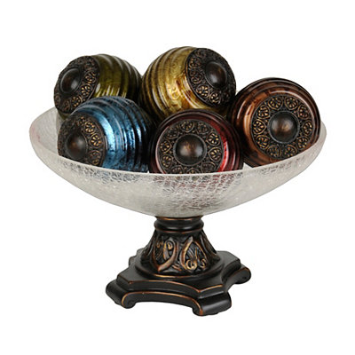Jewel Tone Orb and Bowl Set