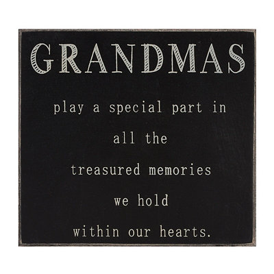 Grandma's Treasured Memories Plaque