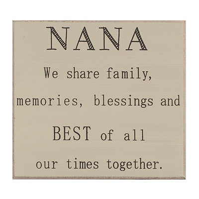 Nana Appreciation Plaque