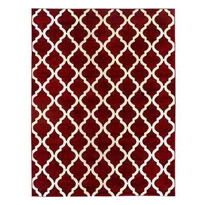 Red Harper Quatrefoil Area Rug, 8x11